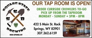 Our Tap Room is Open!