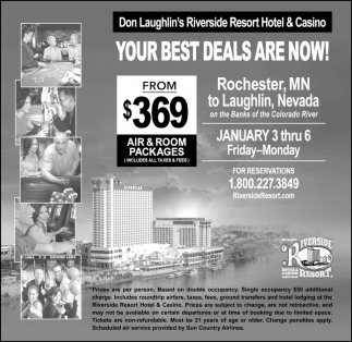 Your Best Deals Are Now Don Laughlin S Riverside Resort Hotel Casino Laughlin Nv