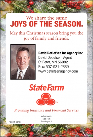 Insurance Agent State Farm David Detlefsen Saint Peter Mn