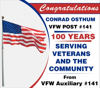 Congratulations - 100 years serving veterans and the community