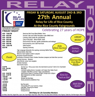 27th Annual Relay For Life of Rice County