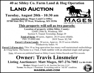 Land Auction August 20th
