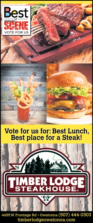 Vote for us for: Best Lunch, Best place for a Steak!