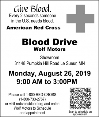 Give Blood. Every 2 seconds someone in the U.S. needs blood