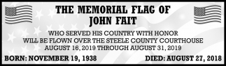 Memorial Flag of John Fait