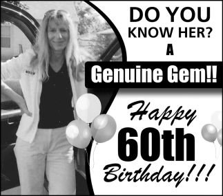 60th Birthday - Do you know her a Genuine Gem!