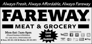 Alwaus Fresh, Always Affordable, Always Fareway