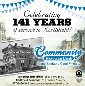 Celebrating 141 Years of Service to Northfield!