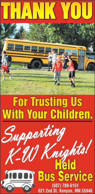 enThank You for Trusting Us With Your Children |Supporting K -W Knights!
