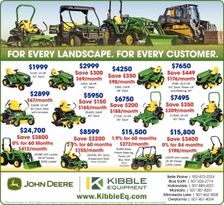 For every landscape. For every customer