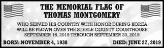 Memorial Flag of Thomas Montgomery