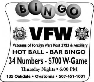 Hot Ball - Bar Bingo - 34 Numbers - $700 W - Game