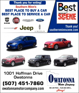 Thank you for voting! Southern Minn's Best Place To Buy A Car Best Place To Service A Car