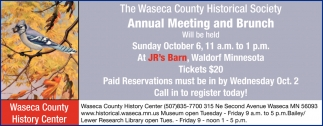 Annual Meeting and Brunch - October 6