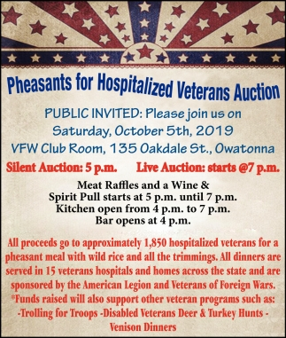 Pleasant for Hospitalized Veterans Auction