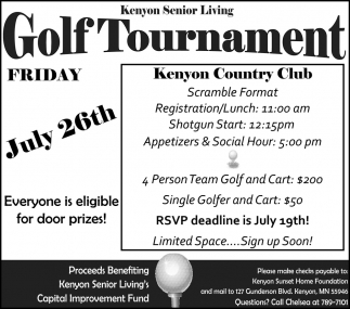 Golf Tournament - Kenyon Country Club