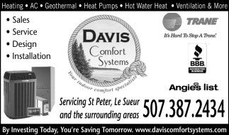 Servicing St. Peter, Le Sueur and the surrounding areas