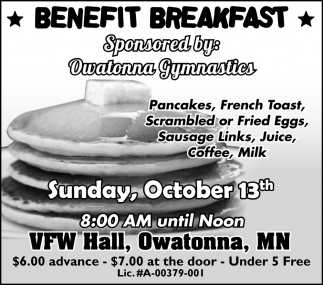 Benefit Breakfast - October 13th
