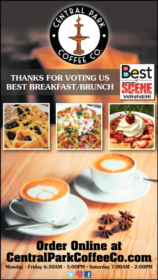 Thanks for Voting Us Best Breakfast/Brunch