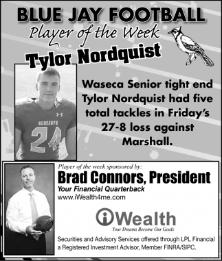 Player of the Week - Tylor Nordquist