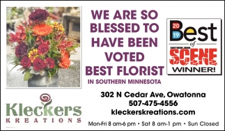 We Are Blessed To Have Been Voted Best Florist