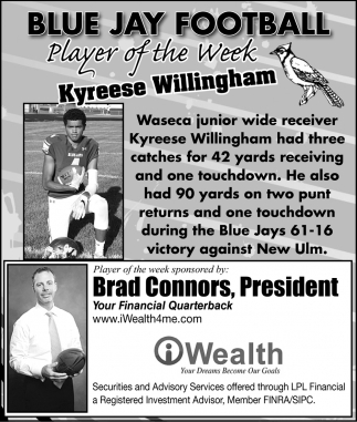 Player of the Week - Kyreese Willingham