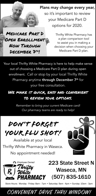 Medicare Part D Open Enrollment | Flu Shot