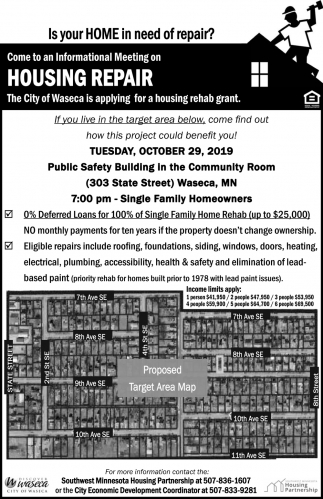 Come to an Informational Meeting on House Repair