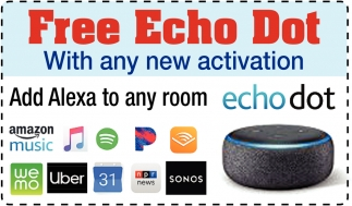 Free Echo Dot With any New Activation
