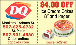 $4.00 off Ice Cream Cakes