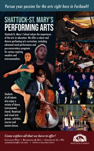 Pursue your passion for the arts right here in Faribault!