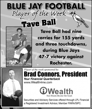 Player of the Week - Tave Ball