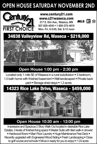 Open House - November 2nd