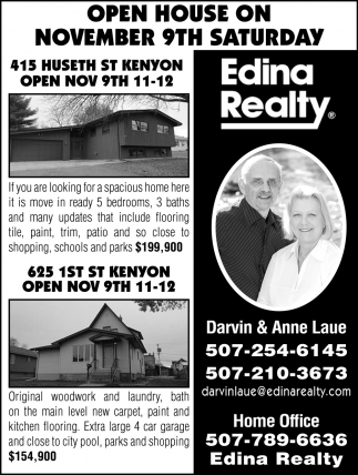 Open House - Novembert 9th
