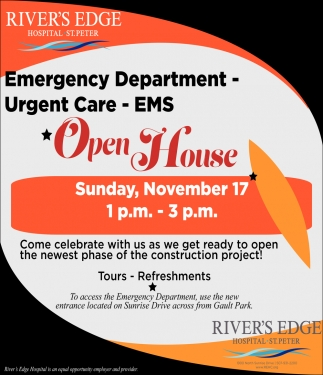 emergency Department - Urgent Care - EMS - OpenHouse - November 17