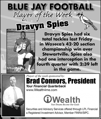 Player of the Week - Dravyn Spies