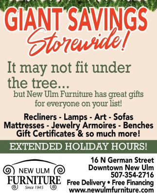 Giant Savings! - Storewide!