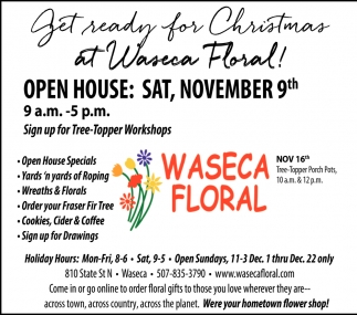 Get Ready for Christmas - Open House November 9th