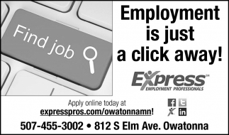 Employment is just a click away!