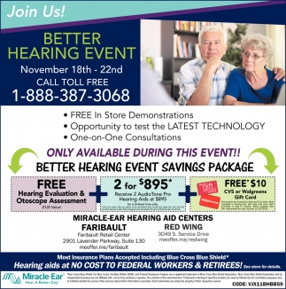 Better Hearing Event  - November 18th - 22nd