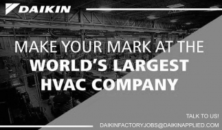 Make your Mark at the World's Larest HVAC Company