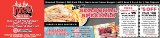 New Seasonal Specials