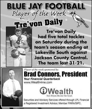 Player of the Week - Tre'von Daily