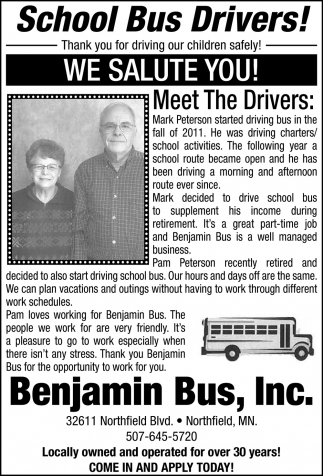 Meet The Drivers: Mark Peterson , Pam Peterson