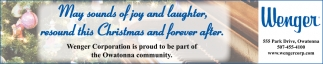 May sounds of joy an laughter, resound this Christmas and forever after