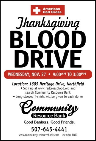 Thanksgiving Blood Drive