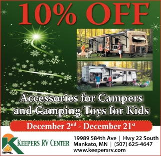 10% off - Accesories for Campers and Camping Toys for Kids