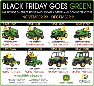 Black Friday Goes Green