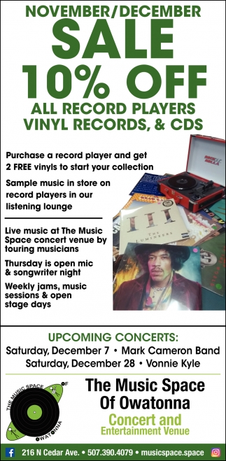 Sale 10% Off All Record Players, Vinyl Records & CDS