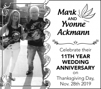 11th Year Wedding Anniversary - Mark and Yvonne Ackman
